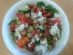 Lentil and Red Pepper Salad
